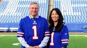 Terry and Kim Pegula after purchasing the Buffalo Bills (Gary Wiepert/The Associated Press)