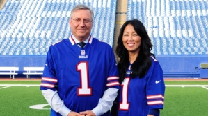 Terry and Kim Pegula after purchasing the Buffalo Bills (Gary Wiepert/The Associated Press)