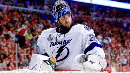 Ben Bishop's health is a crucial factor of tonight's game 5. He sat out game 4.  Tasos Katopodis/Getty Images