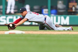 Promising rookie Jace Peterson flashes the leather (Dilip Vishwanat/Getty Images)