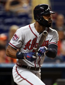 Hart moved out fan favorites like Jason Heyward (above) to restock Atlanta's farm system (Marc Serota/Getty Images)
