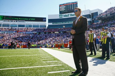 New Sabres President Russ Brandon looks to bring success to the business side of the Sabres while not losing focus on his original job, President of the Bills (Michael Adamucci/Getty Images)