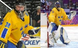 Robin's father played an important role in coaching his son (Left) and elite goaltender Henrik Lundqvist (Right)