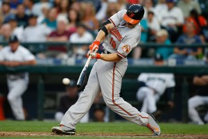 Chris Davis leads a potent Oriole offense that's hitting Baltimore back into the playoff race. (Otto Greule Jr/Getty Images)