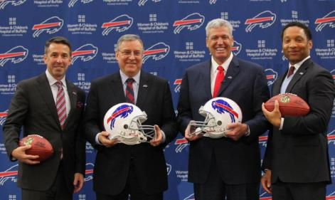 Russ Brandon, Terry Pegula, Rex Ryan and Doug Whaley look to take the Bills where they haven't been in 15 years; the playoffs. (Concord Monitor)