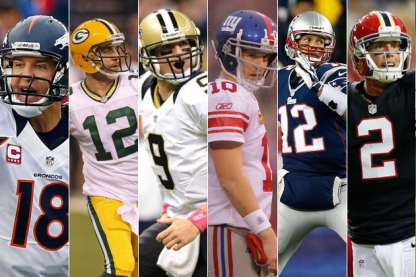 Peyton Manning, Aaron Rodgers, Drew Brees, Eli Manning, Tom Brady and Matt Ryan are among the league's best. Where will they rank in the Hard Foul 32?