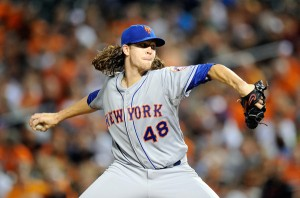 Jacob deGrom and his lucious locks may help lead the Mets back to the postseason (Greg FIume/Getty Images)