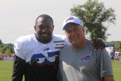 LeSean McCoy and owner Terry Pegula are all smiles at Bills Camp (BuffaloBills.com)
