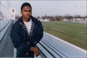 Charles Woodson (HE STILL PLAYS!) attended Fremont Ross in the 90s. (ToledoBlade photo)