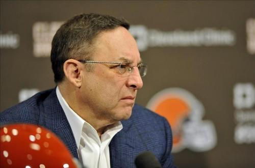 Joe Banner presided over the Browns draft in 2013. (AP Photo)