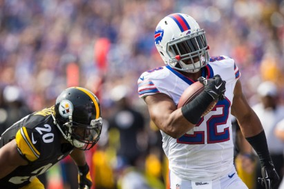 Fred Jackson's last moments as a Buffalo Bill. (Getty Images)