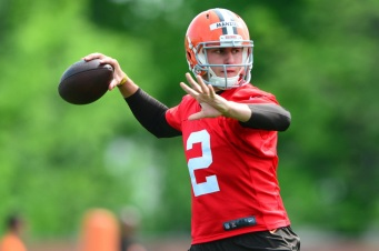 Johnny Manziel has toned it down this preseason (Andrew Weber – USA TODAY Sports)