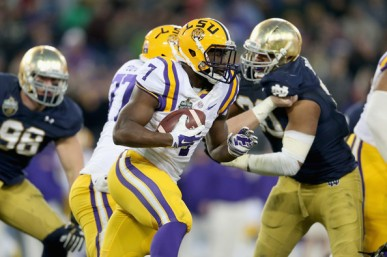 Star RB Leonard Fournette will be the LSU offense in this early SEC matchup (Getty Images)