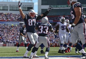 Luckily the Bills don't have to face Brady, Gronk and the Pats every week. (Getty Images)