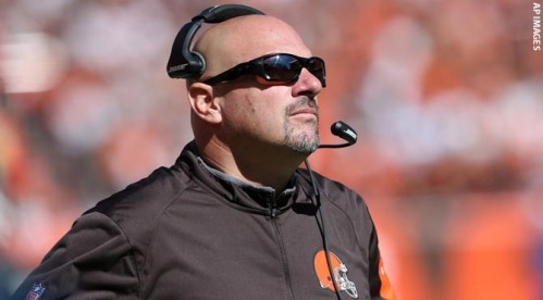 Mike Pettine with his only facial expression. (AP Photo)