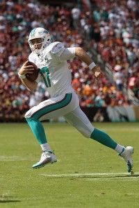 A showdown with Ryan Tannehill and the rival Dolphins awaits the Bills in Miami (Getty Images)