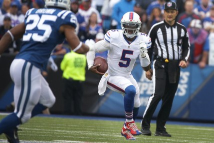 Tyrod Taylor and a dominant defense had Ralph Wilson Stadium jumping on Sunday (Getty Images)