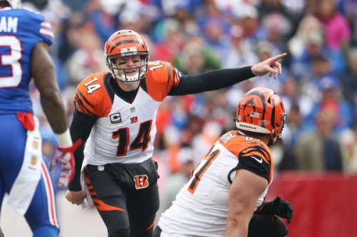 Andy Dalton and the 2-3 Bengals face an uphill battle as they head into New England. (Getty Images)