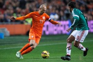 Arjen Robben shreds defenses by creating space as an inverted winger (Getty Images)