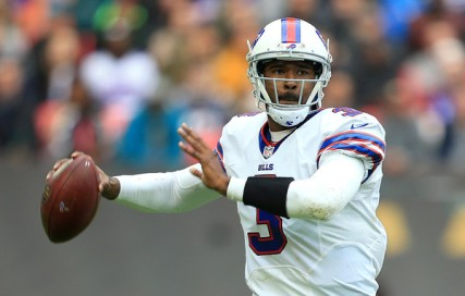 EJ Manuel couldn't protect the football Sunday against the Jags. (Getty Images)