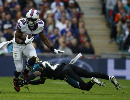 LeSean McCoy and the Bills didn't have enough to beat the Jaguars on Sunday in London. (Getty Images)
