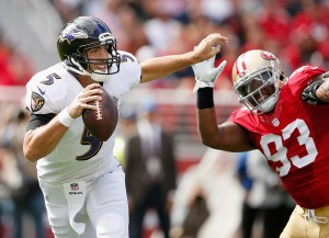 Joe Flacco and his receivers vs the Bills secondary will be one of the most important matchups of the game. (Getty Images)