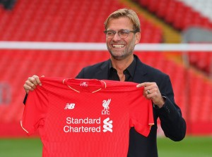 New Liverpool manager Jurgen Klopp is all smiles (Getty Images)