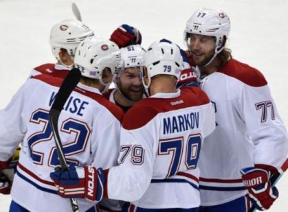 Andrei Markov is all offense on a Friday night at the First Niagara Center. The defenseman is involved in five out of seven of Montreal's goals. (Photo Credit: AP)