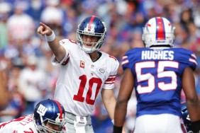 Eli Manning was able to find success vs the Bills defense (Getty Images)