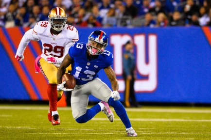 Odell Beckham and his hamstring could keep the Giants out of the playoffs (Getty Images)