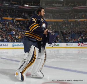 Ryan Miller always had a distinct attachment to the city of Buffalo. As soon as his departure was announced the emotions really set in. – Photo Credit: Bill Wippert/Buffalo News