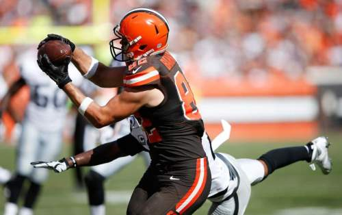 Gary Barnidge has emerged as one of the top TEs in the NFL, to everyone's surprise (AP)