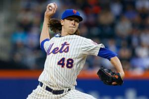 Jacob deGrom has what it takes to be the anchor of this Mets pitching staff (Mike Stobe/Getty Images).