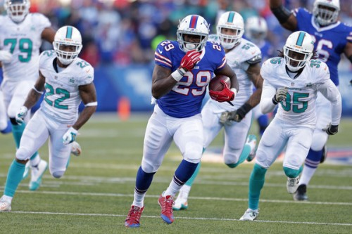 Karlos Williams and the Bills ran over Miami Sunday (Getty Images)