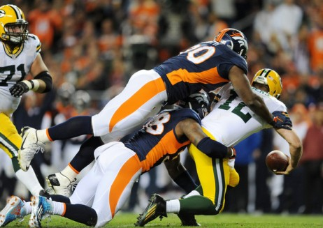 The Broncos defense smothered Aaron Rodgers and Andrew Luck is next (Getty Images)