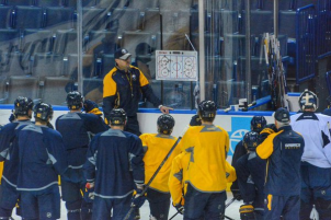 Bylsma will continue the game of guess and check to get the Sabres power-play onto the productive side [Photo Credit: @BuffaloSabres: Social Media Team]
