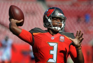 Jameis Winston leads the surprising Bucs are in the thick of the Wild Card race. (Getty Images)