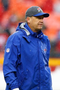 Rex Ryan's use of challenge flags left Bills fans shaking their heads Sunday. (Getty Images)