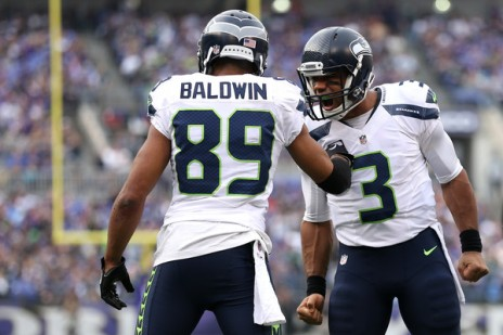 Russel Wilson and his favorite target Doug Baldwin have lead Seattle back into NFC contention. (Getty Images)