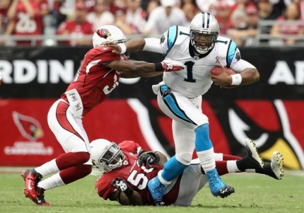 In the middle of an MVP season, Cam Newton must get past a talented Cardinals team to get to his first Super Bowl. (Getty Images)