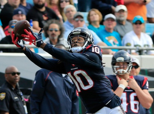 DeAndre Hopkins could give you a leg up on the competition against a soft Green Bay secondary. (Getty Images)