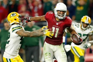 Just a few minutes later Larry Fitzgerald rendered Rodgers Hail Mary moot. (Getty Images)