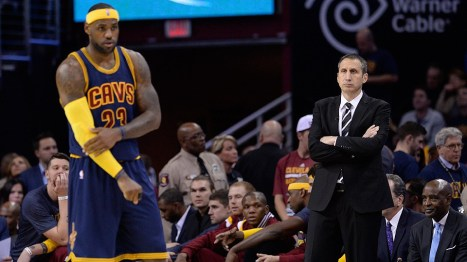 LeBron had seen enough from Coach David Blatt. (Getty Images)