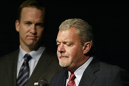 At the time the choice seemed obvious. But what if Jim Irsay and the Colts never cut Peyton Manning? (Getty Images)