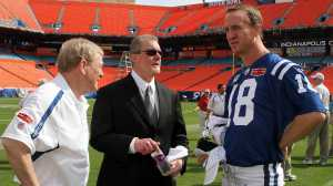 Polian, Irsay and Manning in better times. (Getty Images)