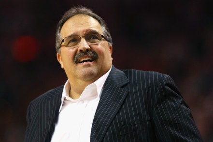 Stan Van Gundy may look unhappy most of the time but his Pistons are heading in the right direction. (Getty Images)