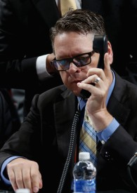 Sabres GM Tim Murray works the phones like no other. (Getty Images)