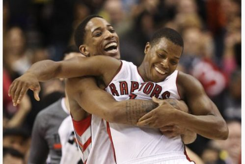 Led by DeMar DeRozan (left) and Kyle Lowry (right) have the Raptors winning more than they have before and they're having fun doing it.