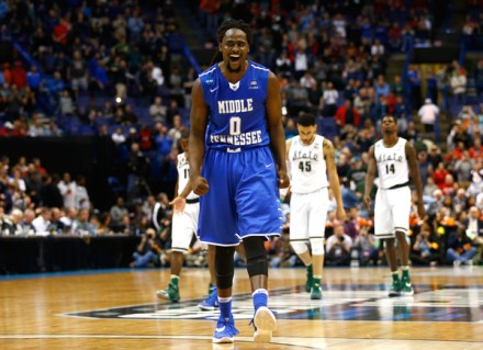As the NCAA Tournament proves every year, as long as randomness reigns there will always be a place in sports for trusting your gut feeling. Pictured: Darnell Harris of 15 seed Middle Tennessee during their win over #2 seed Michigan State. (Getty Images)