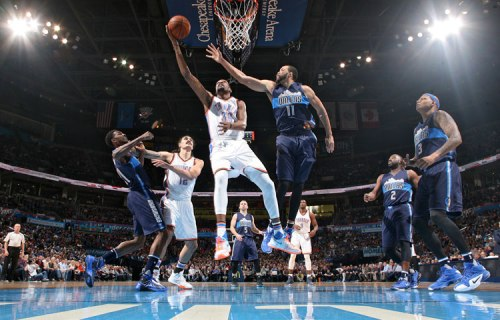 Kevin Durant and Co. did whatever they wanted against undermanned Dallas in the first game of the series. (Getty Images)